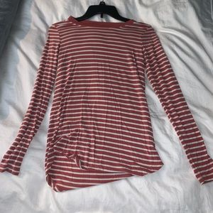 3/$20 Pink and White Striped Shirt